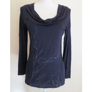 ESPRIT Long Sleeved Gathered Front Scoop LARGE